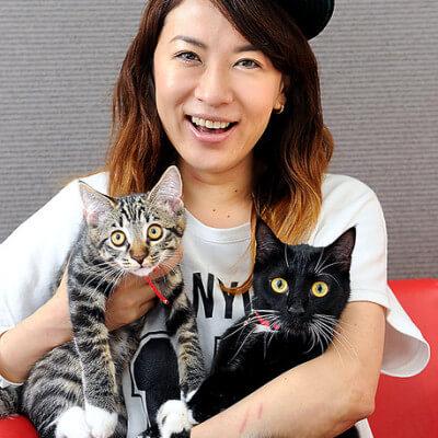 鈴木砂羽さんの猫
