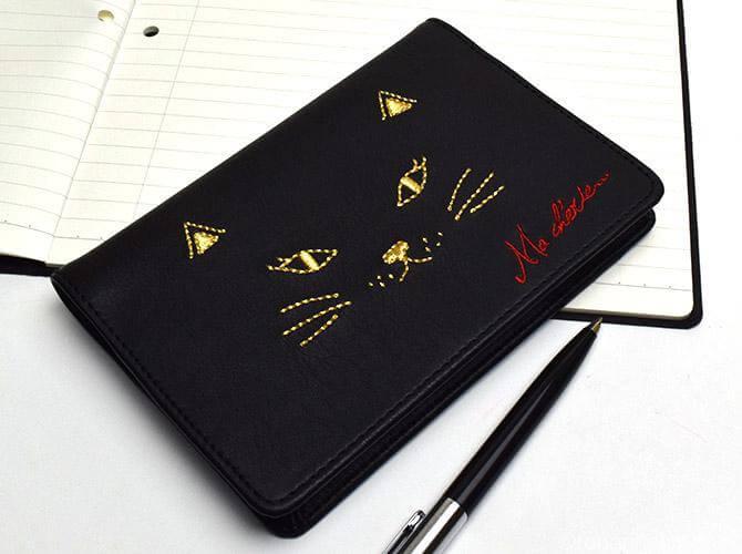 猫手帳黒字1