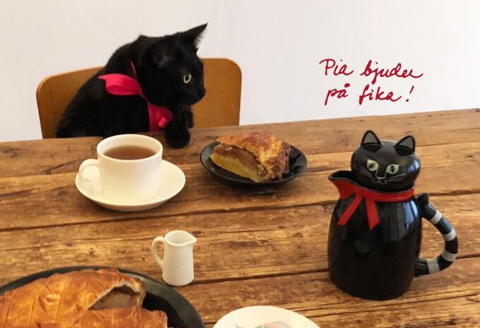 黒猫ポット