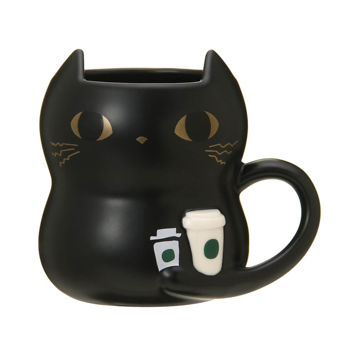 黒猫マグコップ